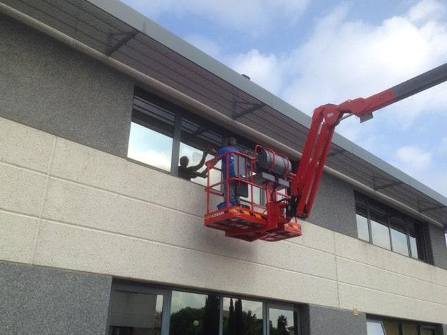Laveurs de vitres nacelle